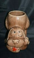 Vintage McCoy Pottery Thinking Thoughtful Dog Hound Cooking Jar Planter 0272