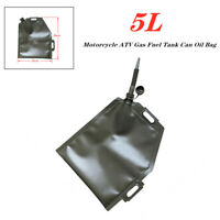 1pc Soft 5L Motorcycle ATV Gas Fuel Tank Can Oil Bag for Quad Dirt Pit Bike SUV