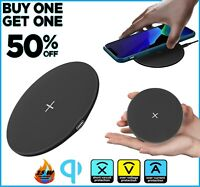Qi Wireless Fast Charger Charging Pad Dock for Samsung iPhone Android Cell Phone $7.99