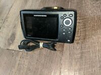 Humminbird  Helix 5 Chirp GPS G2 Fish Finder- head power cord and bracket,