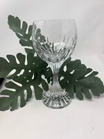 BACCARAT SIGNED CRYSTAL MASSENA RED WINE GLASS 6.4