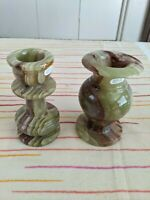 Onyx Vase and Candle Stand - Both for $40.