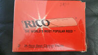 BNEW OLD STOCK VINTAGE Rico BASS CLARINET Reeds #2 Strength 21PCS