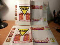 Vintage 1969-1970 Dunkin Donuts Advertising Book Covers X2