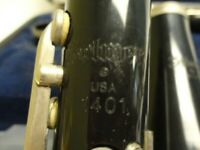 Selmer 1401 Bb Clarinet with hard case, good condition