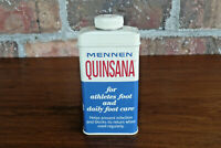 Mennen Quinsana Vintage Powder Tin quot;For Athletes Foot And Daily Foot Carequot;