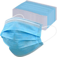 50 100 Kids Face Mask Disposable 3 Ply Ear loop Mouth Cover 3 Layer Filter Mask