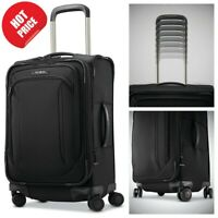 Samsonite Lineate 20 inch Softside Expandable Luggage Spinner Carry On Black