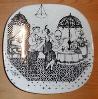 Bjorn Wiinblad, - I Tidens Tegn Plate - 1928, made by Nymolle 1978.