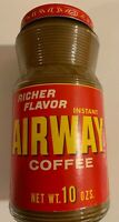 Vintage Glass Airway Coffee Sealed Airport NOS Unopened Jar Full Not Tin