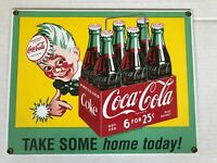 Coca Cola porcelain enameled advertising sign by Ande Rooney