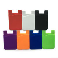 Silicone Wallet Credit Card Cash Sticker Adhesive Holder Case For iPhoneamp;Samsung C $0.99