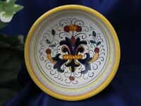 Deruta Italy Italian Pottery Ricco Yellow Olive Oil Dipping Bowl Dish