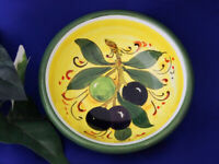 Tuscany Italy Italian Pottery Tuscan Olives Olive Oil Dipping Bowl