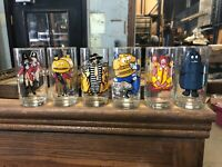 1977 VINTAGE MCDONALD'S COLLECTOR SERIES GLASSES NEW (COMPLETE SET OF 6) grimace