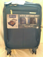 Samsonite Solyte DLX 20 inch Softside Expandable Spinner Luggage Carry On - Teal