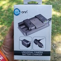 Onn Universal Camera Battery Charger Black ONA18CA007 Adjustable to size New $10.28