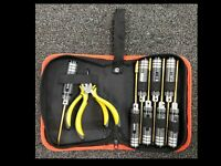 ExcelRC Mini Z and Micro Car Tool Kit Black With Zippered Case
