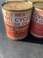 Metal Cans EZ-mix 2 Cycle Oil Vintage Gas And Oil (6-Pack Full Cans)