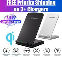 Qi Wireless Fast Charger Charging Stand Dock Pad for Samsung iPhone Android LG $10.82