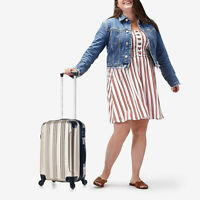 Carry on Luggage 22x14x9 Travel Lightweight Rolling Spinner Hard Shell Champagne
