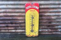 Original Vintage RC Cola Thermometer Sign 25 Inch Metal Royal Crown Soda Pop