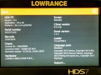 Lowrance HDS 7 Touch, GPS Receiver, plus Depth Transducer.
