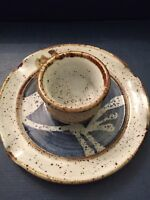John Schulps Pottery Match Strike - Handcrafted - Signed Stoneware