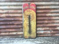 "Original Vintage RC Cola Thermometer Sign 25"" Metal Royal Crown Soda Pop As Is"