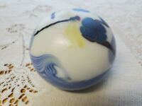 Orient and Flume Paperweight Dragonfly Flowers Swirls 1975 NM 140