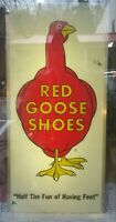 VINTAGE Red Goose Shoes Lighted Sign **Very Hard To Find**     25 1/4