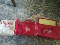 3 Drink Coca Cola in Bottles Vinyl Cooler Carrier Insulated Bag Vintage