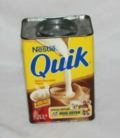 Vintage 1980s Nestle Quik Retro Metal Tin 6
