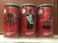 Saudi Arabia Coca Cola Zero cans set James Bond commemorative