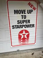TEXACO VINTAGE SIGN GAS STAR POWER AUTHENTIC LARGE 6 FOOT