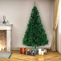 8FT Artificial PVC Xmas Christmas Tree W/Stand Holiday Season Indoor Outdoor New