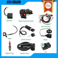 Electric Wiring Harness Kit Magneto Stator For GY6 125 150cc ATV Quad Sco