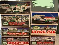 Hess Truck Toy Truck Lot - 7 New In Box - Truck Car Van Helicopter