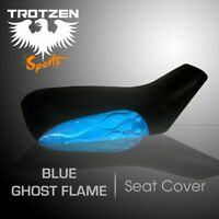 Yamaha Raptor 50  Blue Ghost Flame MotoGHG Atv Seat Cover