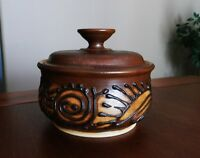 HANDCRAFTED Artisan POTTERY with LID- Signed