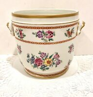 TIFFANY & CO HAND PAINTED FRENCH PORCELAIN CACHE POT VASE RARE VINTAGE