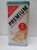 VINTAGE - 1969 -  NABISCO PREMIUM SALTINE CRACKER TIN CAN