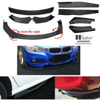 Carbon Fiber Look Side Skirt Rear Lip Front Bumper Spoiler Body kit Universal $89.90