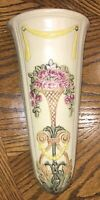 BEAUTIFUL VINTAGE WELLER ROMA ART POTTERY WALL POCKET CLASSICAL URN W ROSES 1914