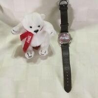 Coca Cola Watch WORKS with Plush Bear 2002 A1