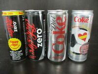 Coca cola Israel : 4 x 330 ml empty cans different years.