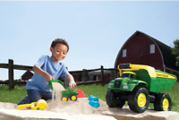 Large 21 Inch Kids Dump Truck Toy Toddler Fun Vehicle Children John Deere Gift