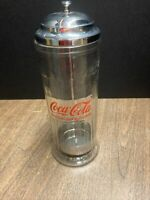 Coca Cola Straw Dispenser Glass Holder Jar Coke
