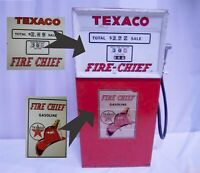 Texaco Toy Gas Pump Fire Chief Gasoline DECALS ONLY