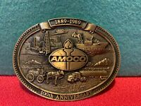 Vintage Amoco Oil Limited Edition 100th Anniversary Belt Buckle #276 Solid Brass